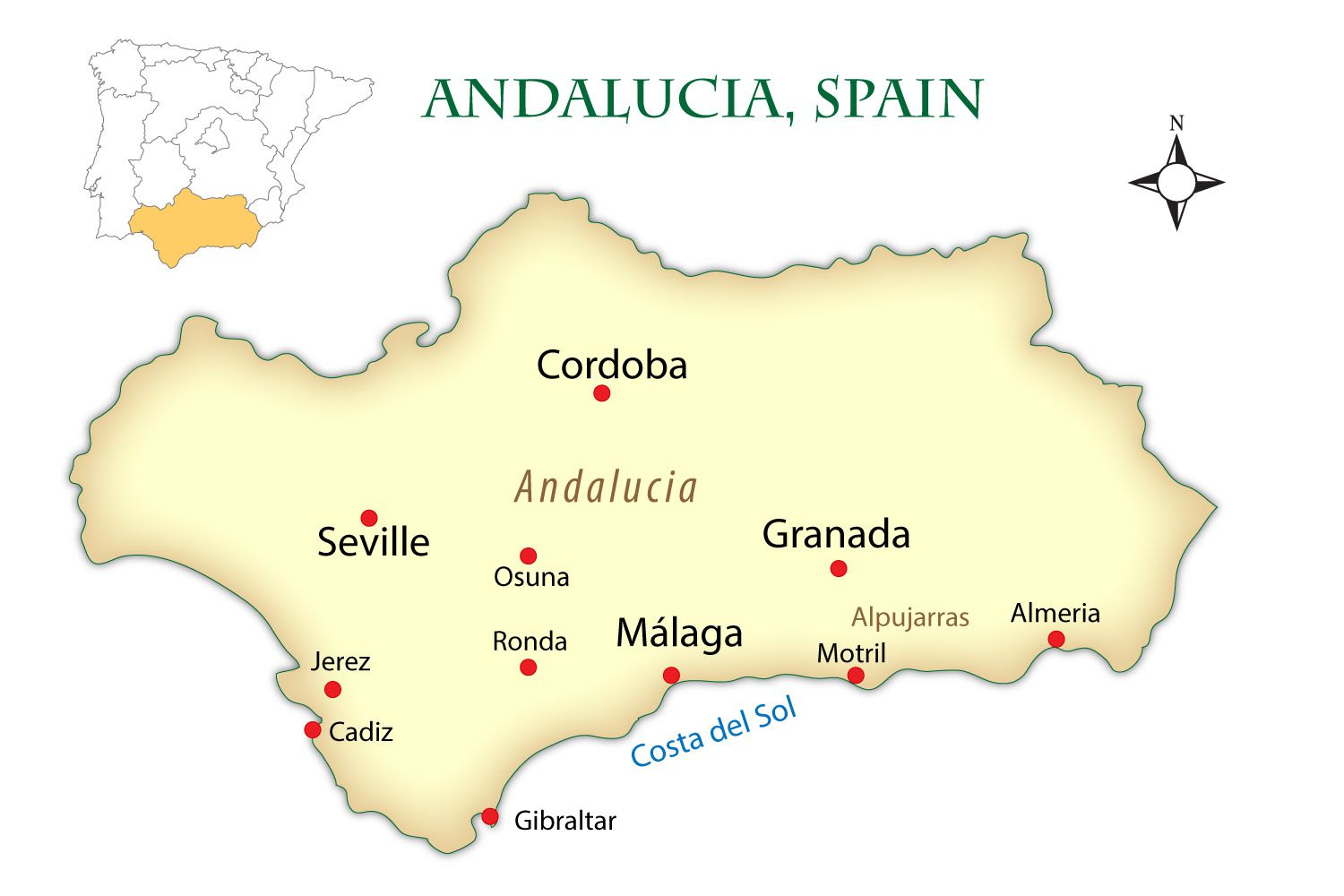 Map Of Spain Gibraltar And Morocco.Sunmed Holidays Andalucia And Morocco From Madrid 12 Days Tour